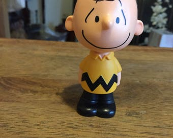 Cake Topper, Charlie Brown, Peanuts, Retro, Toy, Antique Discoveries