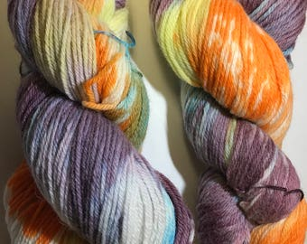 Dyed - sock yarn - hand dyed Sock yarn -  fingering weight - Variegated Yarn -  Merino wool - hand dyed wool- indie dyed yarn - merino wool