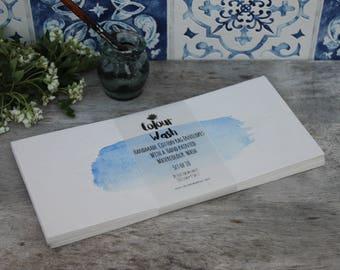 Watercolour wash handmade envelopes, hand painted wedding watercolour stationary, blue and grey envelopes | DL envelopes, Set of 10