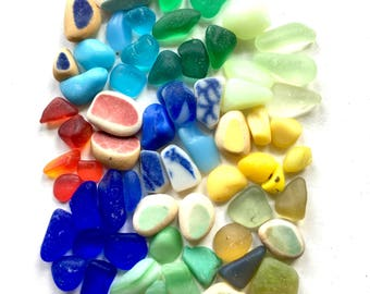 Genuine Sea Glass, Miniature, Tinies, UV, Fairy Garden, Mini, 3mm 8mm Pebbles