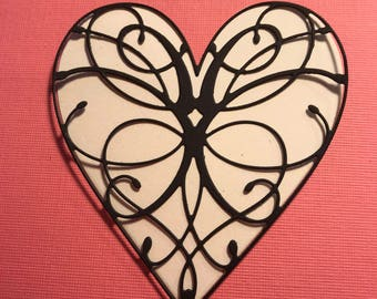 Lace Valentine Heart and Background Die cuts Set of 8
