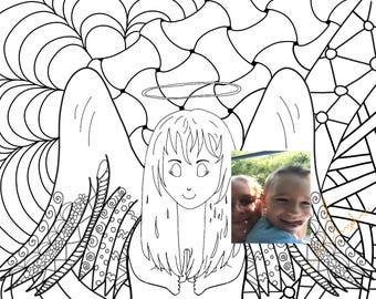 Angel Spiritual Coloring Page