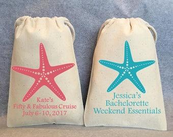 """12- Bachelorette Weekend, Bachelorette Weekend survival Kit, Bachelorette Hangover kit, beach bachelorette favor bags, 4""""x6"""""""