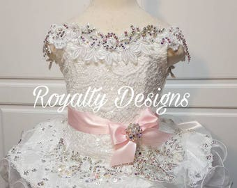 Custom Designed High Glitz pageant dresses