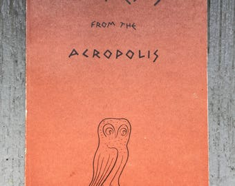 Athens from the Acropolis, Maria Alexandrakas, 1957, Simple Cover, Design, Paperback, Black White, Photographs, Greek Scholar, Gift, Collect