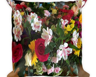 Brand New Floral Square Pillow