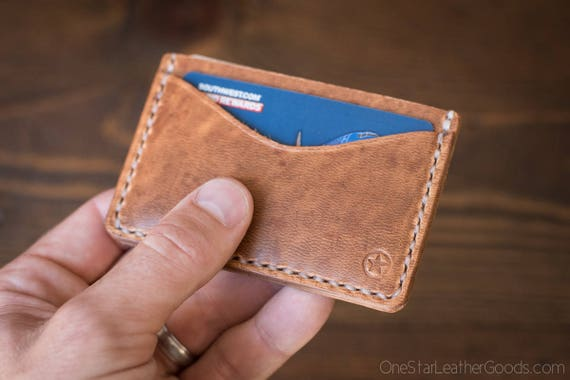 Three Pocket Flat Wallet - Horween natural Dublin leather