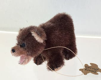 """Miniature Brown """"Sushi"""" Bear by Mary Bures 1992 (JL)"""