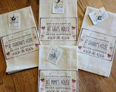 Linen tea towel. Made in the USA