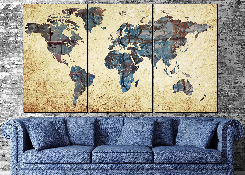 World Map Wall Art - talentneeds.com -