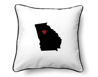 Georgia Pillow - Georgia Gift - Georgia Map - GA State Map