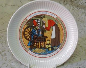 Wedgwood Etruria Children's Stories Rumpelstiltskin plate Made in England 1977