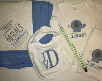 Baby Boy Personalized/Monogrammed Gift Set