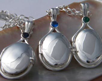 Lot Of 3 pcs 925Sterling Silver Lockets H2O Just Add Water Mermaids Necklaces