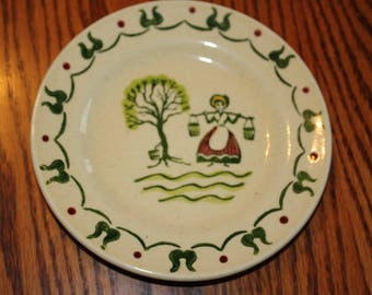 "Homestead Provincial Bread Plate ""Poppy trail"" made in California by Metlox"