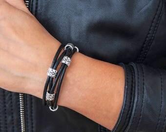 Bracelets For Women Wrap Boho Bracelet Wrap Bracelet Leather Wrap Bracelet Beaded Wrap Bracelet Leather Bracelet Silver Plated Bracelet
