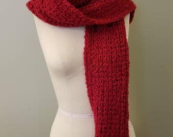 "Handmade Chunky Trending Crocheted  Scarf ~ Shawl  Extra Long 64"""