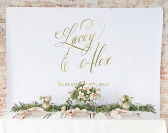 Gold Wedding Backdrop Curtain