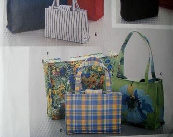 Tote Bag Sewing Pattern Simplicity 8331 Purse Handbag Totebag UNCUT