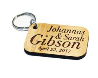 Wedding favor key chain,