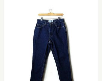ON SALE Vintage  High Waist tapered Slim Denim Pants/Jeans from 90's/W30*