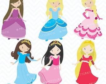 80% OFF SALE princess clipart commercial use, vector graphics, digital clip art, digital images - CL457