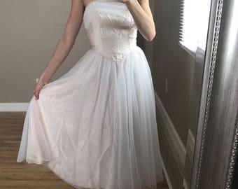 Vintage 50's Dance Allure Tea Length Tulle Dress