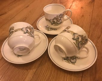 "Susie Cooper ""Iris"" cups and saucers"
