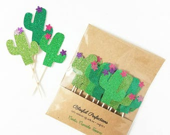 Fiesta Party - Fiesta Cupcake Toppers, Cactus Cupcake Toppers, Cactus Toppers, Fiesta Toppers, Summer Party Toppers, Taco Party, Taco Topper