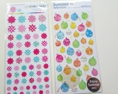 Sales : Flower and Balloon Sticker - 2 sheets