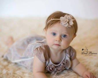Baby girl Headband, chiffon headband, Newborn headband, vintage headband, flower headband, Photography Prop , Girl headband