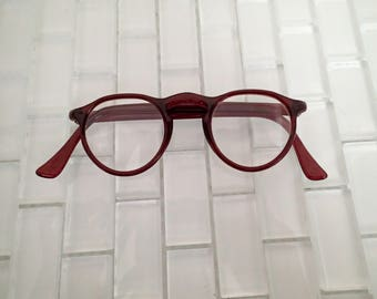 1960s Brown Nerd Frames - Small Profile Mod Frames - USA