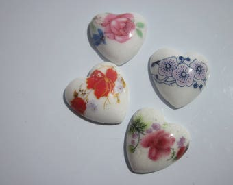 4 hearts ceramic paste mix - (B) 20mm