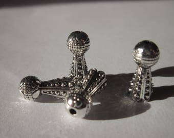 4 cups long ethnic patterned metal 1.6 cm (2068)