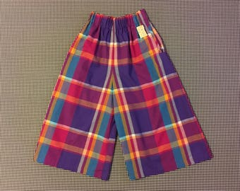 1980's, colorful, plaid, koolats, Women's size Medium/Large