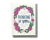 Thinking of you card - Just because card Sympathy card Bereavement card Condolence card Grief card Mourning card - Hennel Paper Co. - TH1