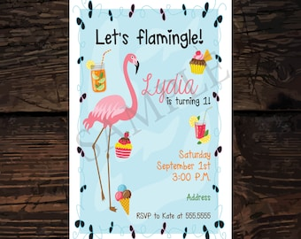 DIY Flamingo/Flamingle Birthday Party Invitation