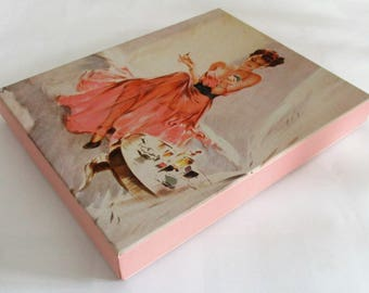 David Wright's Lovelies Photo Album Revving Up The Sketch 1943 Pin Up Girl Scrapbook