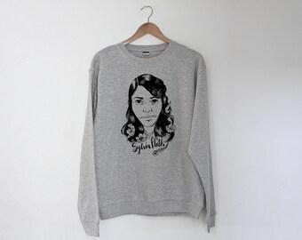 Sylvia Plath Regular Unisex Sweatshirt Sweater Jumper