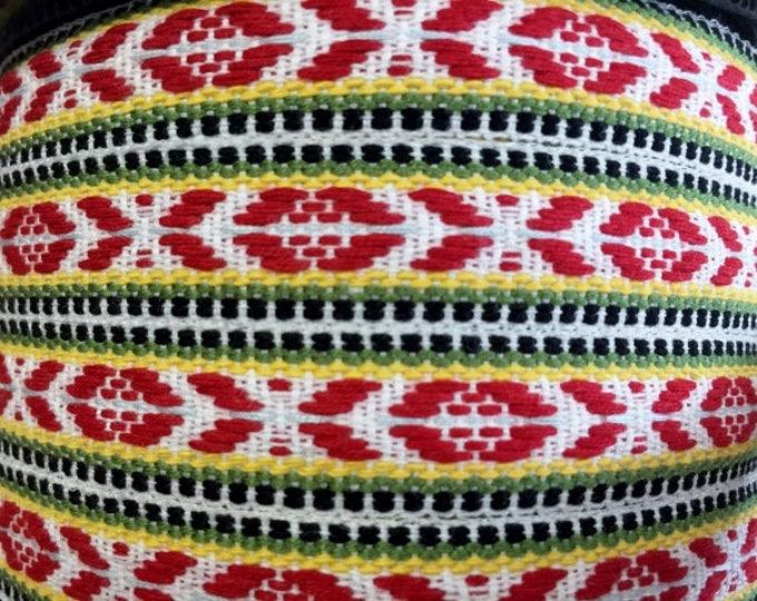 Swedish Folk Art Ribbon Trim Woven Scandinavian Per Yard