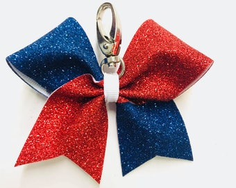 Glitter Bow Keychain Two Colors