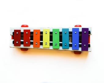 Fisher Price Pull A Tune Vintage Musical Pull Toy 1964 Xylophone