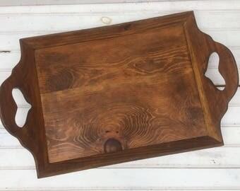 Large tray, Wood tray, wooden tray, vintage tray, serving tray, home decor tray, coffee table tray, farmhouse