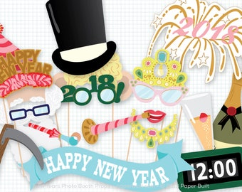 New Years Photo Booth Props, Photobooth Props, New Years Decorations, Party Accessories, Centerpiece, New Years Party, Party Decorations