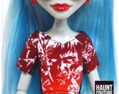 """Monster Doll Haunt Couture 2017 """"Zombie T-Shirt"""" high fashion doll clothes 