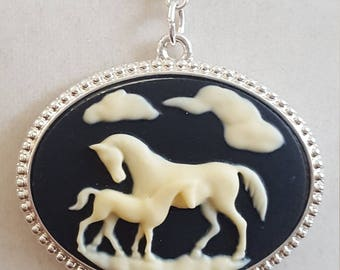 Horse Cameo Necklace