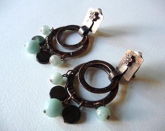 Clip rings earrings