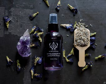 Lavender & Butterfly Pea Calming Facial Cleanser : Natural Facial Cleanser / Face Cleanser / Vegan Face Wash by Aziz Light Apothecary