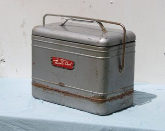 Sweet Vintage Knapp and Monarch Silver Portable Cooler