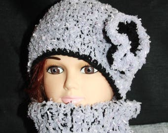 all closed collar and hat knitting pattern and very warm crochet 2